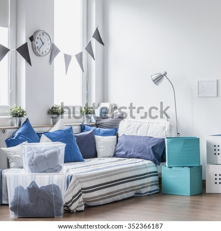 Cozy space for every boy in the world - stock photo