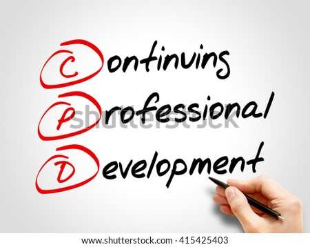 CPD - Continuing Professional Development, acronym business concept - stock photo