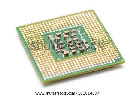 CPU (central processing unit) close up - stock photo