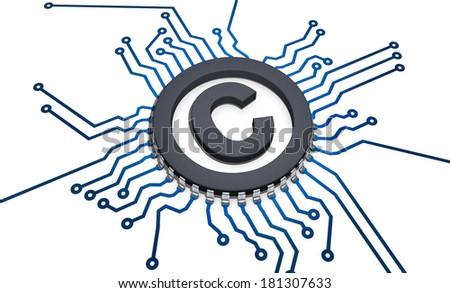 CPU copyright - stock photo