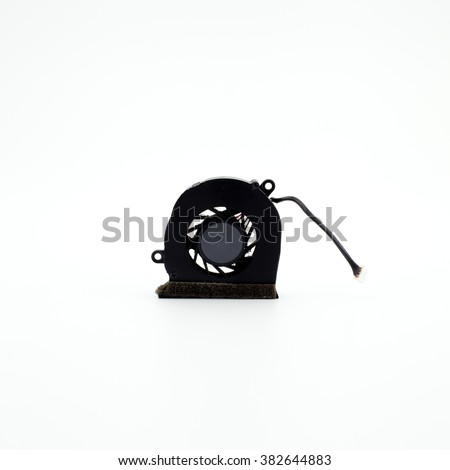 Cpu fan isolated on white - stock photo