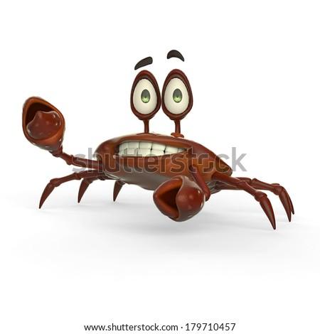 crab cartoon - stock photo