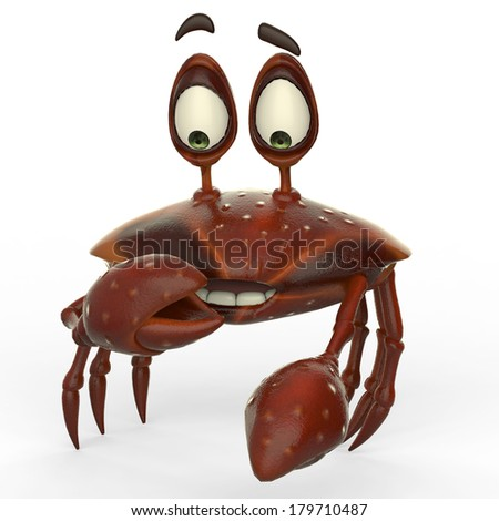 crab cartoon in what is this - stock photo