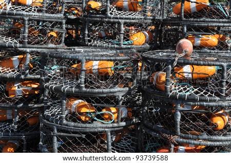 Crab Pots - stock photo