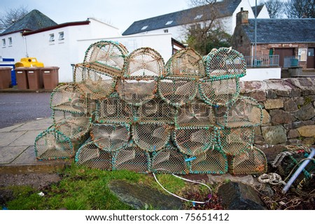 Crab pots in Plockton, Scotland - stock photo