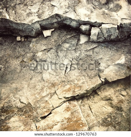 crack at rock ; stone material background - stock photo