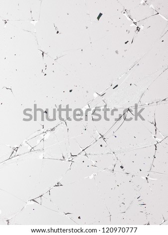 Crack glass panel in a macro image - stock photo