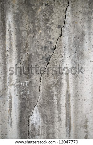 Crack in concrete wall - stock photo