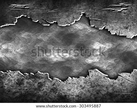 crack metal background template  - stock photo