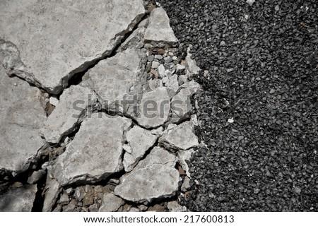 Crack Road Texture - stock photo