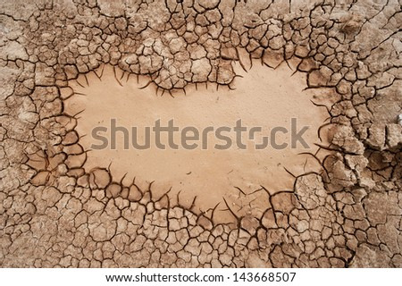 Cracked and barren ground - stock photo