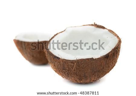 Cracked Coconut - stock photo