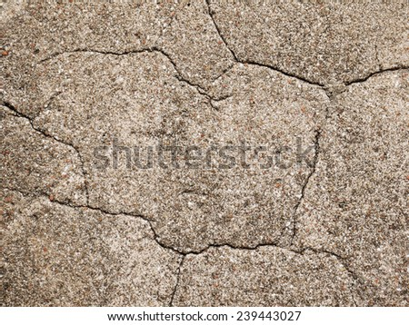 cracked concrete wall texture background - stock photo