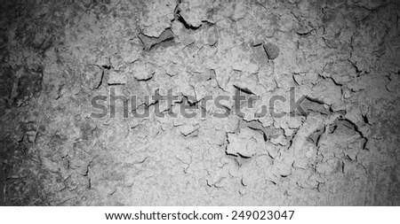 cracked earth, desert, cataclysm texture - stock photo
