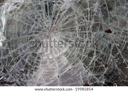 cracked glass - stock photo