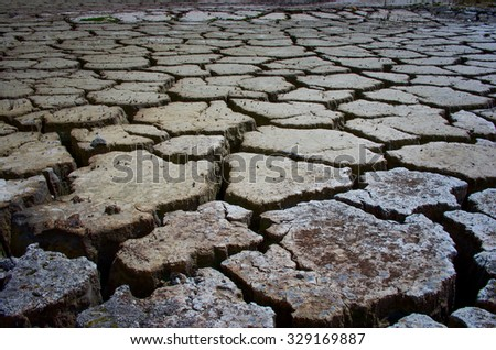 cracked ground for background - stock photo