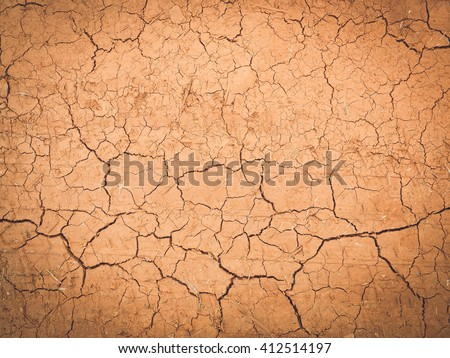 Cracked ground texture background in vintage style - stock photo