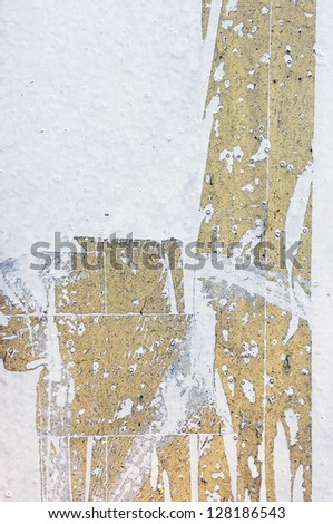 cracked marking tape - stock photo
