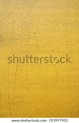 cracked old yellow paint, texture - stock photo