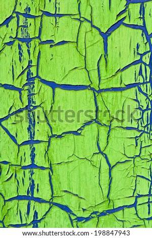 Cracked paint texture - stock photo
