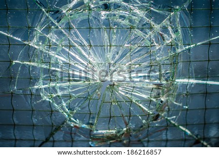 Cracked reticulated safety glass surface texture background image - stock photo