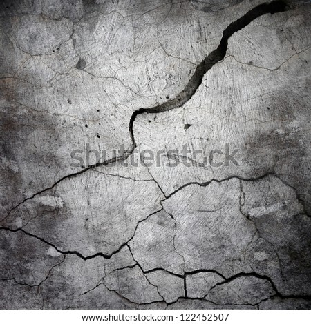 cracked stucco wall ; abstract  grunge background - stock photo