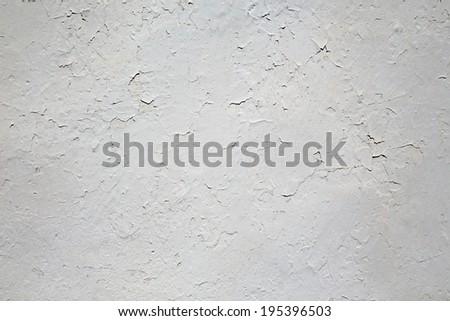 Cracked white walls, old plaster - stock photo