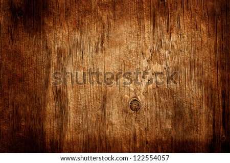 cracked wood board - stock photo