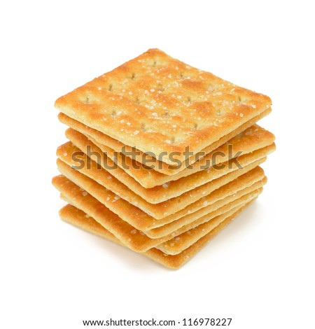 Cracker isolated on white - stock photo