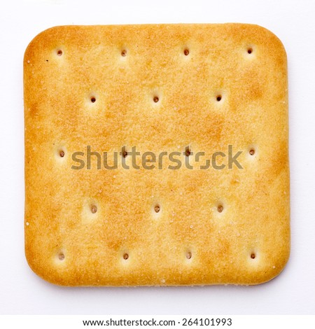 Cracker isolated on white background. Top view. - stock photo