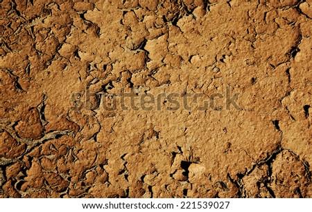 cracking dried land - stock photo