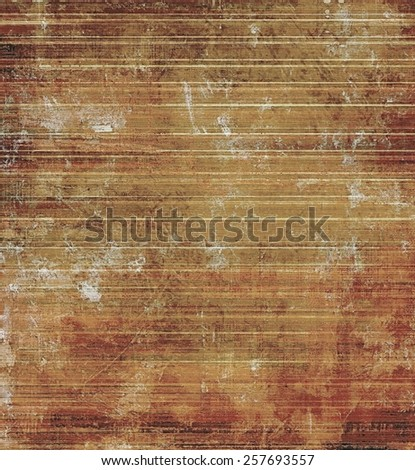 Cracks and stains on a vintage textured . With different color patterns: yellow (beige); brown; gray - stock photo