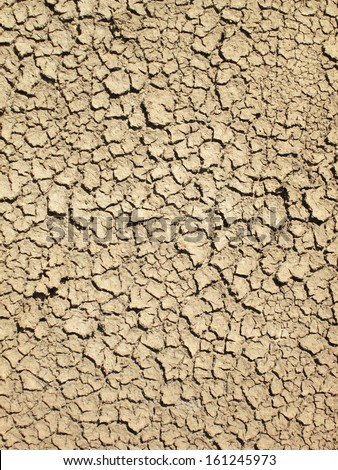 Cracks on the ground - stock photo