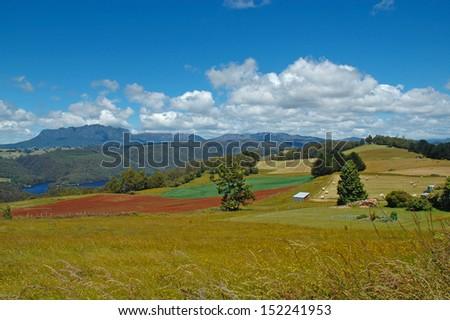 Cradle Mountain National Park, Tasmania Australia - stock photo