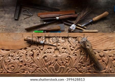 Craft wood hand made - stock photo