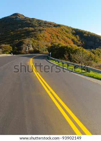 Craggy Dome over the Blue Ridge Parkway - stock photo