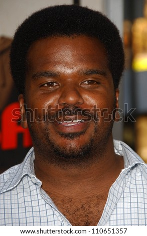 "Craig Robinson at the Los Angeles Premiere of ""Superbad"". Grauman's Chinese Theatre, Hollywood, CA. 08-13-07 - stock photo"