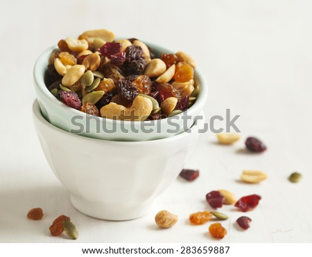 Cranberry and nuts mix - stock photo