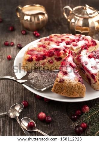 Cranberry cake - stock photo