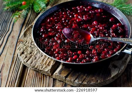 Cranberry Sauce - stock photo