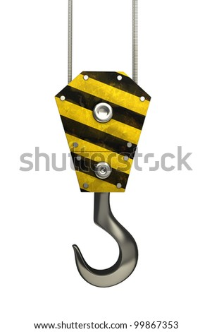 Crane hook isolated on white background 3d High resolution. - stock photo