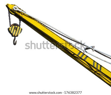 Crane isolated on withe background, clipping path included - stock photo