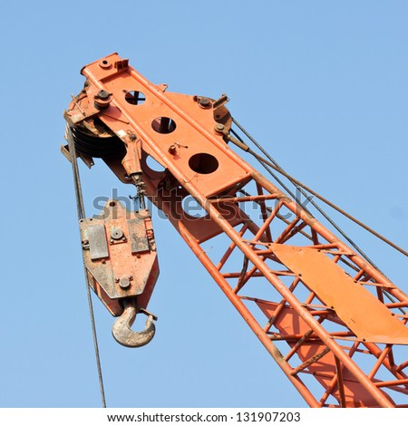 Crane With Blue Sky - stock photo