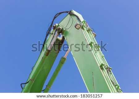 Crane with detail of a jib - stock photo