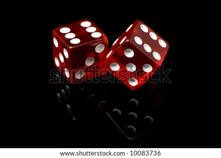 craps on a black background - stock photo