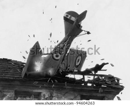 CRASH LANDING - stock photo