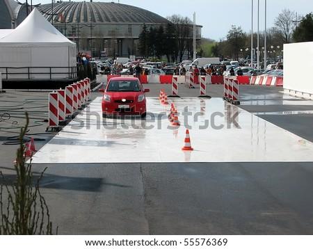 crash test - stock photo