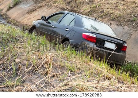 Crashed Car - stock photo