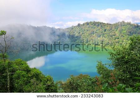 Crater Lake Chicabal Lagoon, Guatemala - stock photo