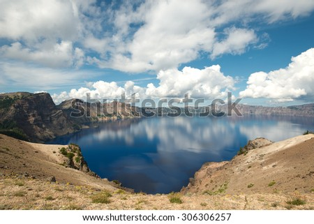 Crater Lake, in  Oregon, USA - stock photo